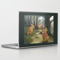 rabbits Laptop & iPad Skins featuring Rabbits by Elena Naylor