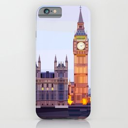 Geometric Big Ben, London, UK iPhone Case
