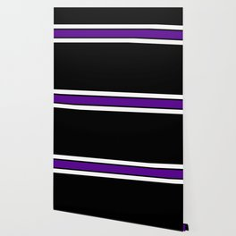 Team Colors...purple and white on black Wallpaper