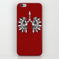 lungs iPhone & iPod Skins featuring lungs by khet13