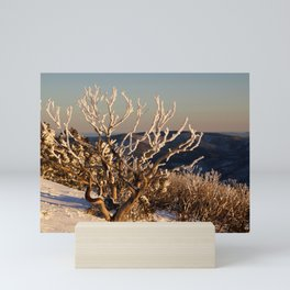 Winter Sunset on the Mountainside Mini Art Print