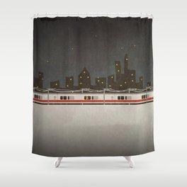 Train Scene Shower Curtain
