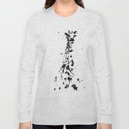 Giraffe ink splatter Long Sleeve T-shirt