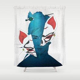 Fox Mask Shower Curtain