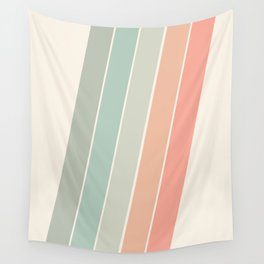Trippin' - retro 70s socal minimal striped abstract art california surfing vintage Wall Tapestry
