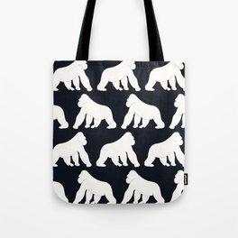 Gorillas White Tote Bag