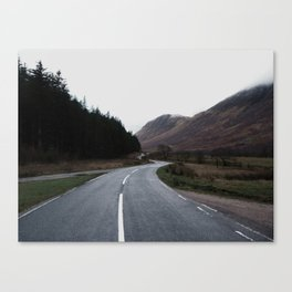 Road through the Glen Canvas Print