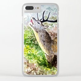 Deer Sounding in the Forest Clear iPhone Case