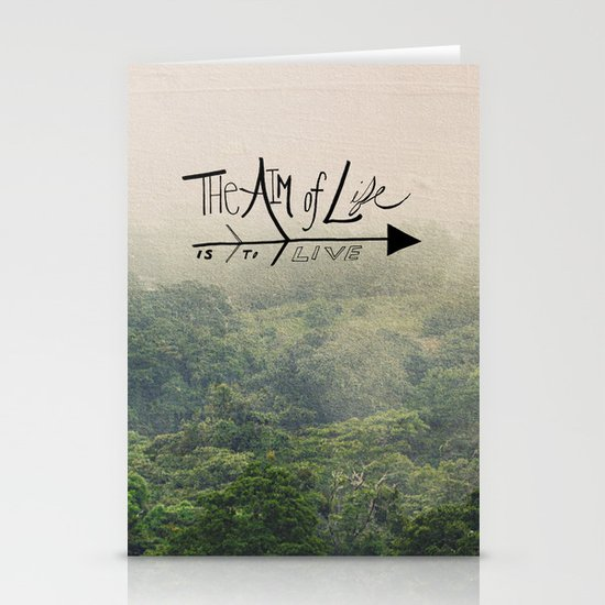 The Aim of Life Stationery Cards