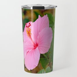Pink Hibiscus 2 Travel Mug