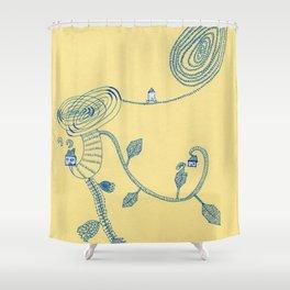 sptial garen Shower Curtain