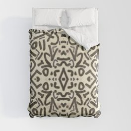 Black and White Doodle Art Comforters