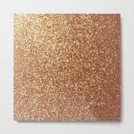 Bright Shiny Spanish Galleon Gold Glitter Metal Print