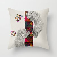 kris tate Throw Pillows featuring The Innocent Wilderness by Peter Striffolino and Kris Tate by Peter Striffolino