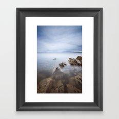 Colour Coast Rocks Framed Art Print