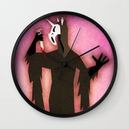 Scream Unicorn Wall Clock