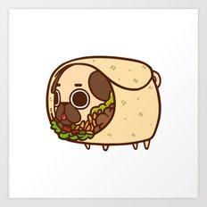 Puglie Burrito Art Print