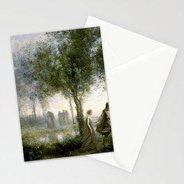 12,000pixel-500dpi - Jean-Baptiste Camille Corot - Orpheus Leading Eurydice From The Underworld Stationery Cards