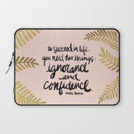 Ignorance & Confidence #2 Laptop Sleeve