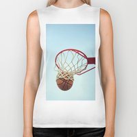 basketball Biker Tanks featuring Basketball by KimberosePhotography
