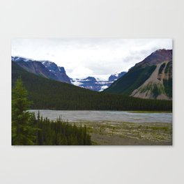 Stutfield Glacier along the Icefields Parkway  in Jasper National Park, Canada Canvas Print