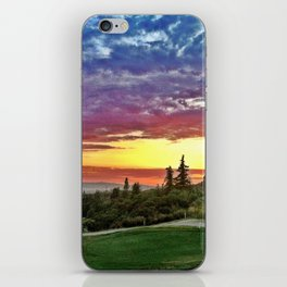 Sunset Over Golf Course iPhone Skin