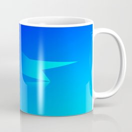Star Flight Space Carrier - Midnight Navy Blue Turquoise Coffee Mug
