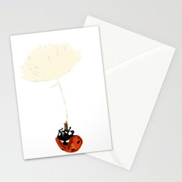 Ladybird in the air Stationery Cards