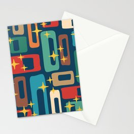 Retro Mid Century Modern Abstract Pattern 221 Stationery Cards
