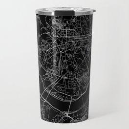 Seoul Black Map Travel Mug