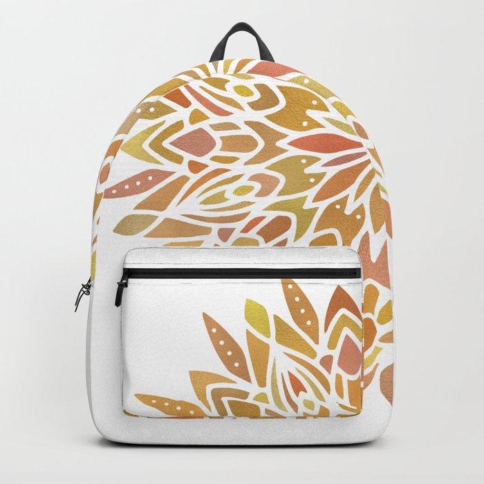 Mandala Desert Copper Gold Backpack