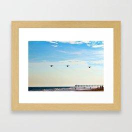 Choppers Over Beach Framed Art Print