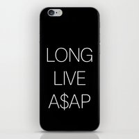 asap rocky iPhone & iPod Skins featuring asap rocky by Sara Eshak