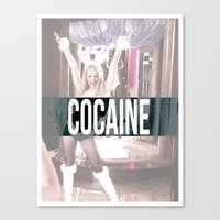 cocaine Canvas Prints featuring Cocaine by Randall Hansen