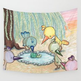 Birdies Chillin' Wall Tapestry