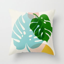 Abstraction_PLANTS_01 Throw Pillow