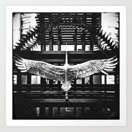 «Escaped shadoof» Art Print