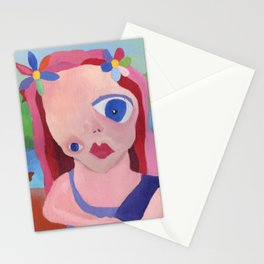 Mona Lisa Gets a Makeover Stationery Cards