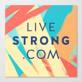 livestrong pillow Canvas Print