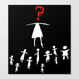 Helena Stick Figures Canvas Print