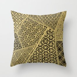 Japanese Patterns Throw Pillow
