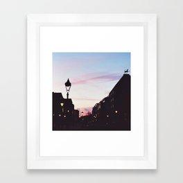 pastel sunset Framed Art Print