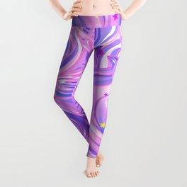 Pink & Purple Waves in the Stars Leggings