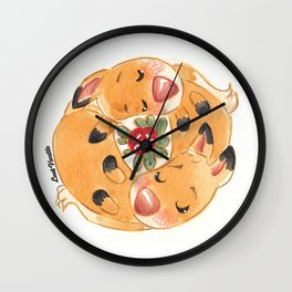 Renards jumeaux Wall Clock