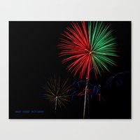 fireworks Canvas Prints featuring Fireworks by Warren Benberry Photography / o.d.Imagez