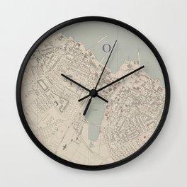 Vintage Map of Reykjavik Iceland (1943) Wall Clock