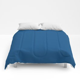 Classic Blue 0F4C81 Spring Summer Solid Color Block Comforters