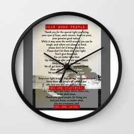 Dear Good People Wall Clock