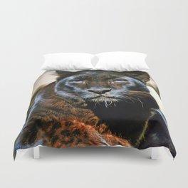 The Black Leopard Duvet Cover
