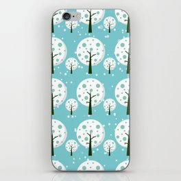 White trees  repeating pattern design iPhone Skin